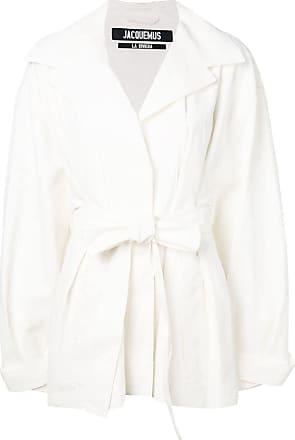 Jacquemus Sobretudo oversized com cinto - Branco