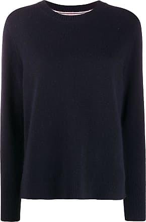 Chinti and Parker Suéter de tricô canelado com acabamento contrastante - Azul
