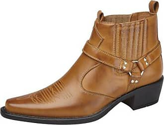 US Brass Mens Western Cowboy Biker Boots Shoes Tan Size 7-12 (12)