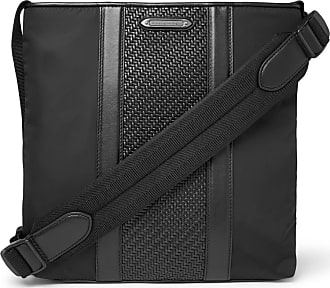 3bf7596067 Ermenegildo Zegna Pelle Tessuta Leather And Nylon Messenger Bag - Black