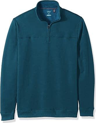 Arrow 1851 Mens Saranac Long Sleeve 1//4 Zip Sueded Fleece Pullover