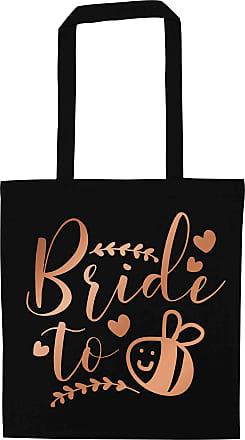 Flox Creative Black Tote Bag Rose Gold Bride to Bee