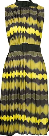 Wynn Hamlyn Ripple pleat dress - Amarelo