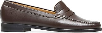Van Dal Womens Hampden X Wide Fit Brown Leather Penny Loafer Flats, Size 38 EU