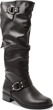 xoxo Womens Minkler Leather Closed Toe Mid-Calf Fashion Boots, Black, Size 5.5