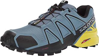 Salomon Salomon Mens Speedcross 4 Trail Running Shoes, Blue (Bluestone/Black/Sulphur Spring), 7 UK