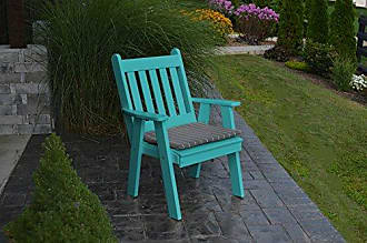 A & L Furniture A & L Furniture Poly Traditional English Chair, Aruba Blue