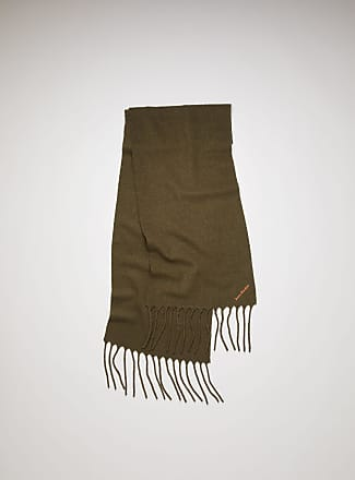 Acne Studios FN-UX-SCAR000027 Khaki green Boiled wool-blend scarf