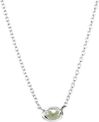 Efva Attling Love Bead Necklace Silver - Green Quartz Necklaces