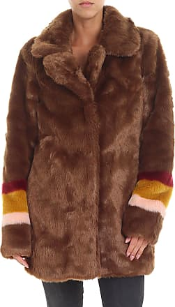 Pinko Brown Fischietto eco-fur jacket