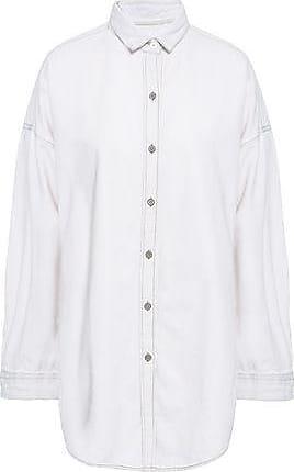 Iro Iro Woman Nath Denim Shirt Pastel Pink Size 36
