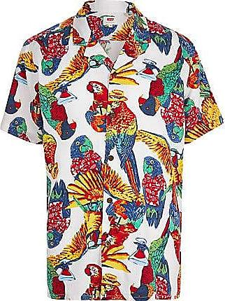 Levi's Mens Levis white parrot short sleeve shirt