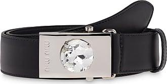 Miu Miu crystal detail belt - Black