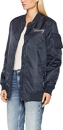 Tommy Jeans Womens Nylon Bomber Jacket, Blue (Total Eclipse 422), Small