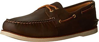 Sperry Top-Sider Sperry Mens Gold Cup Authentic Original 2-Eye Boat Shoe, Brown, 10.5 M US