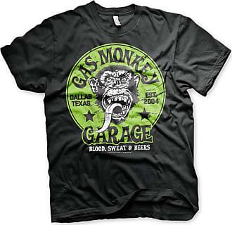 Gas Monkey Garage Officially Licensed Merchandise Green Logo T-Shirt (Black), XX-Large