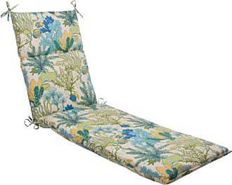 Pillow Perfect Indoor/Outdoor Splish Splash Chaise Lounge Cushion, Blue