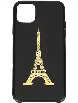 VETEMENTS Capa para iPhone 11 Pro Eiffel Tower - Preto