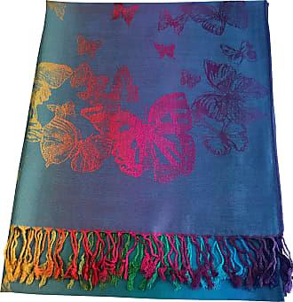 CJ Apparel Turquoise Butterfly Design Shawl Scarf Wrap Stole Throw Pashmina CJ Apparel NEW