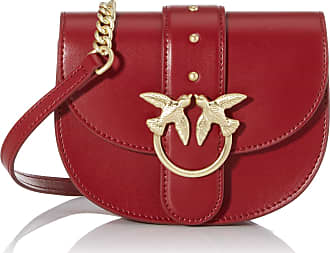 Pinko Baby Round Love Simply Womens Shoulder Bag, Red (Dark Red), 6x13x17 centimeters (W x H x L)