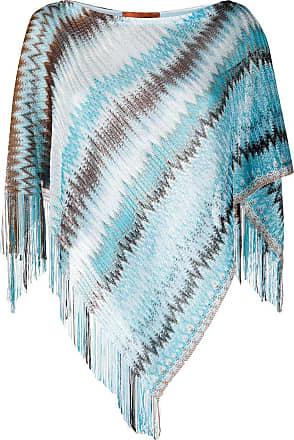 Missoni Blusa poncho assimétrica - Azul