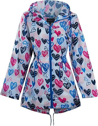 LARGE PINK Ladies Waterproof Parka Hooded Pink Metallic Festival Jacket