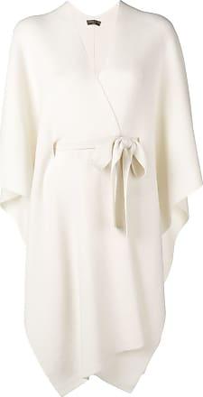 N.Peal belted blanket cape - Neutrals