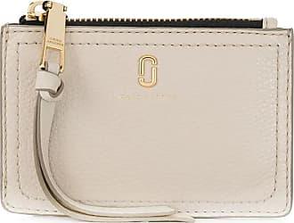 Marc Jacobs Top zip wallet in cream leather