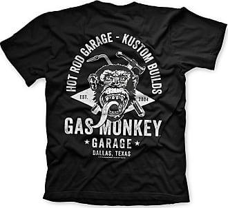 Gas Monkey Garage Men Shirt T-Shirt Torch & Hammer Black-XL
