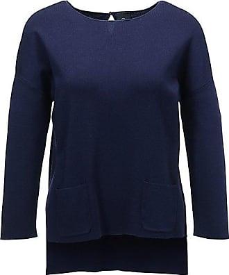 Madeleine Strickpullover mit Taschen Damen nachtblau / blau