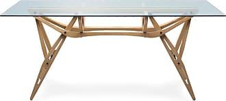 ZANOTTA Design Reale Dining Table Oak & Glass Top