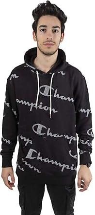 Champion Mens Hooded Pullover, mens, KL001 NBK/ALLOVER CHP7368, L