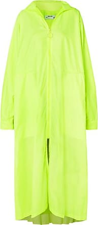 Off-white Oversized Neon Shell Coat - Yellow