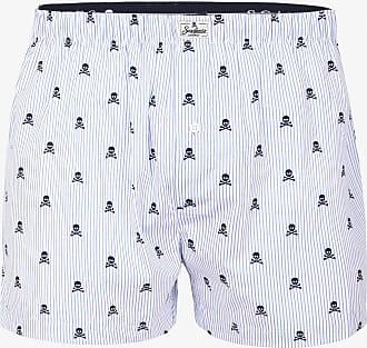 Scalpers Striped Skull Boxer Shorts