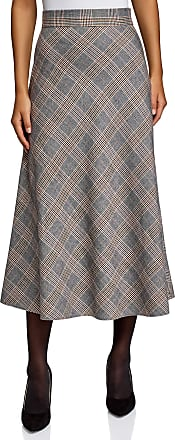 oodji Collection Womens A-Line Midi Skirt, Grey, UK 10 / EU 40 / M