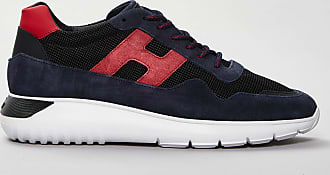 Reposi Calzature Hogan - Interactive Cube Sneakers in suede con dettagli rossi - Blu