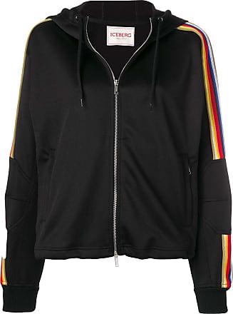 Iceberg jersey logo hoodie - Black