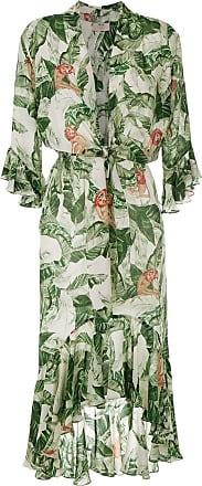 Adriana Degreas Vestido longo com amarração - Verde