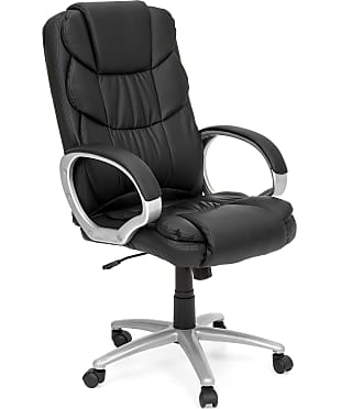 Best Choice Products Faux Leather Ergonomic High-Back Executive Chair w/ Rolling Base - Black