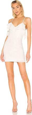 Superdown Keely Frill Mini Dress in White