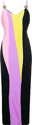 FAUSTO PUGLISI Vestido color block slim - Preto
