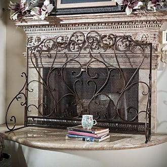 BEST SELLING HOME Visalia Iron Fireplace Screen - 295451