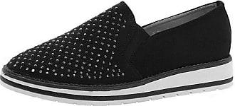 Saute Styles Ladies Women Flats Casual Loafers Diamante Office Skater Pumps School Shoes Size 5 Black