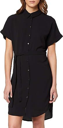 Vero Moda Womens Vmsasha Shirt Ss Dress Ga Noos Business Casual, Black, S