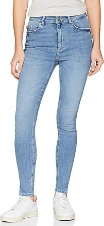 Pieces Womens Pcdelly Hw Skn CRP Slit Lb107-ba Skinny Jeans, Blue (Light Blue Denim Light Blue Denim), 25W