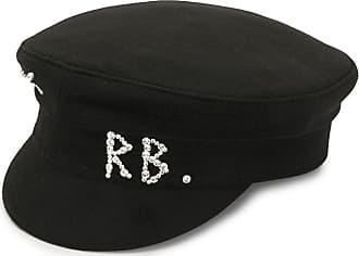 Ruslan Baginskiy rhinestone logo baker boy hat - Preto