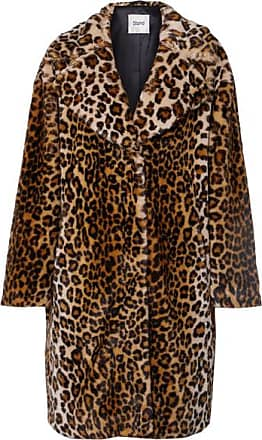 b57fab41cce STAND Camille Leopard-print Faux Fur Coat - Leopard print