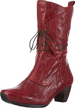 202168ed0b69 Think Damen ANA Halbschaft Stiefel, Rot (Rosso 70), 40 EU