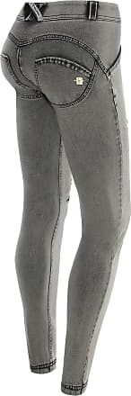 Freddy Skinny WR.UP in distressed light grey denim with embroidery