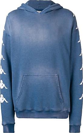 Paura Blusa de moletom com logo Kappa - Azul